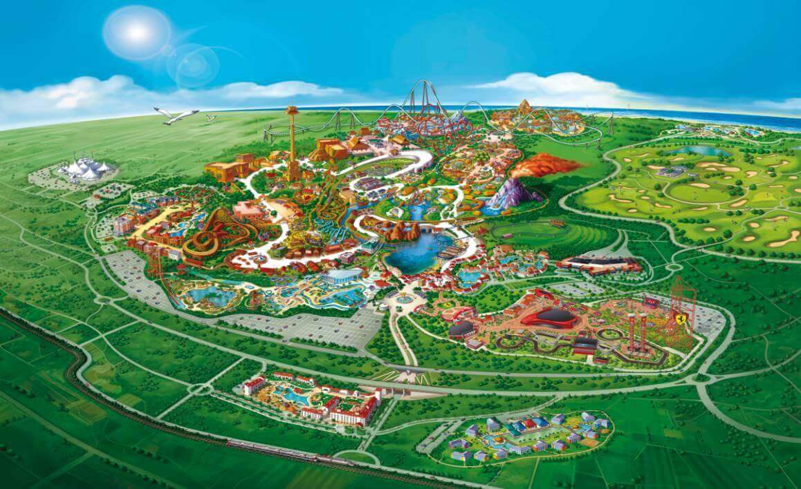 PortAventura World Mapa del Resort