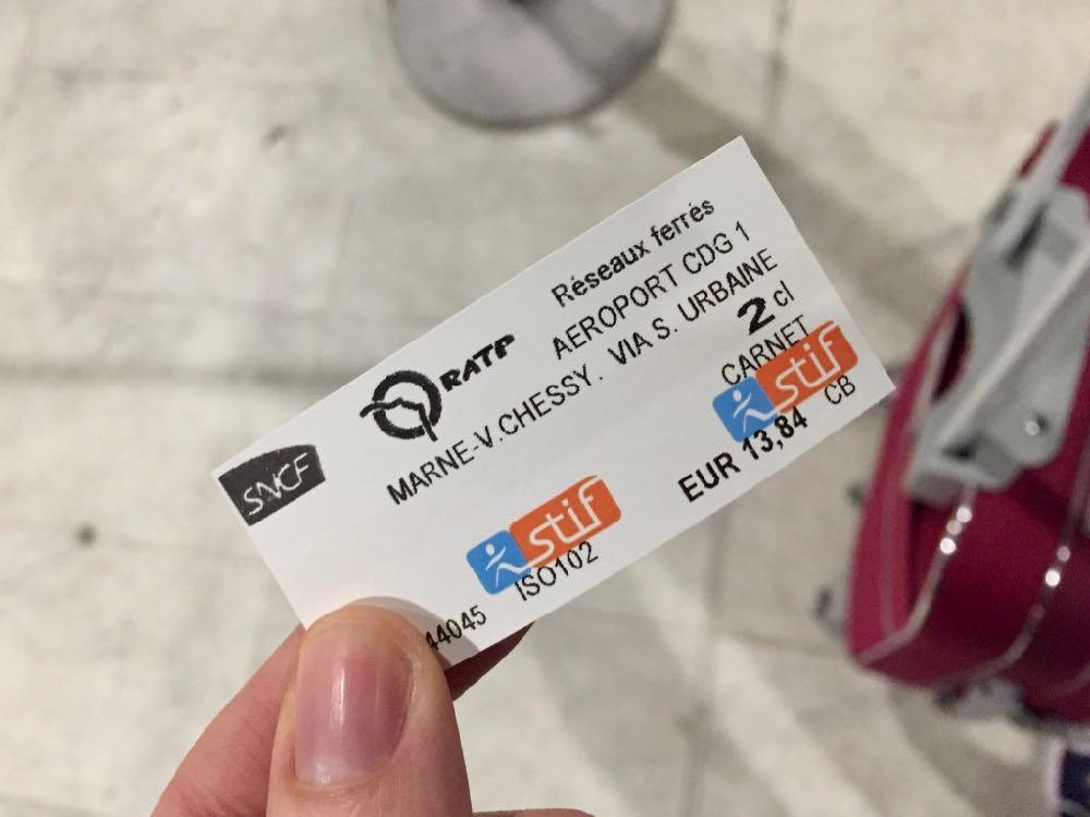 Billete de RER desde el Aeropuerto Charles de Gaulle a Disneyland Paris