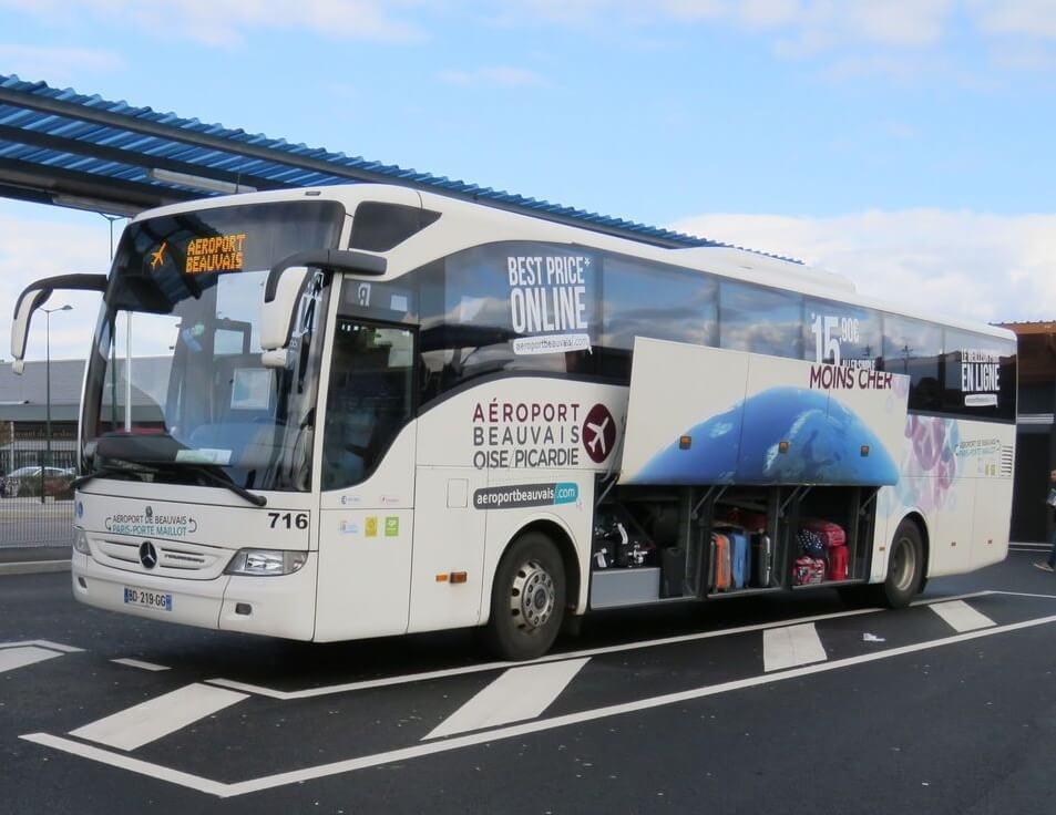 Bus del Aeropuerto de Beauvais al centro de Paris