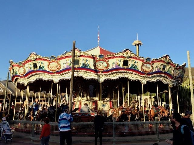 Carousel atracción de Far West en PortAventura