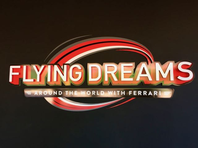Logo de Flying Dreams en Ferrari Land de PortAventura