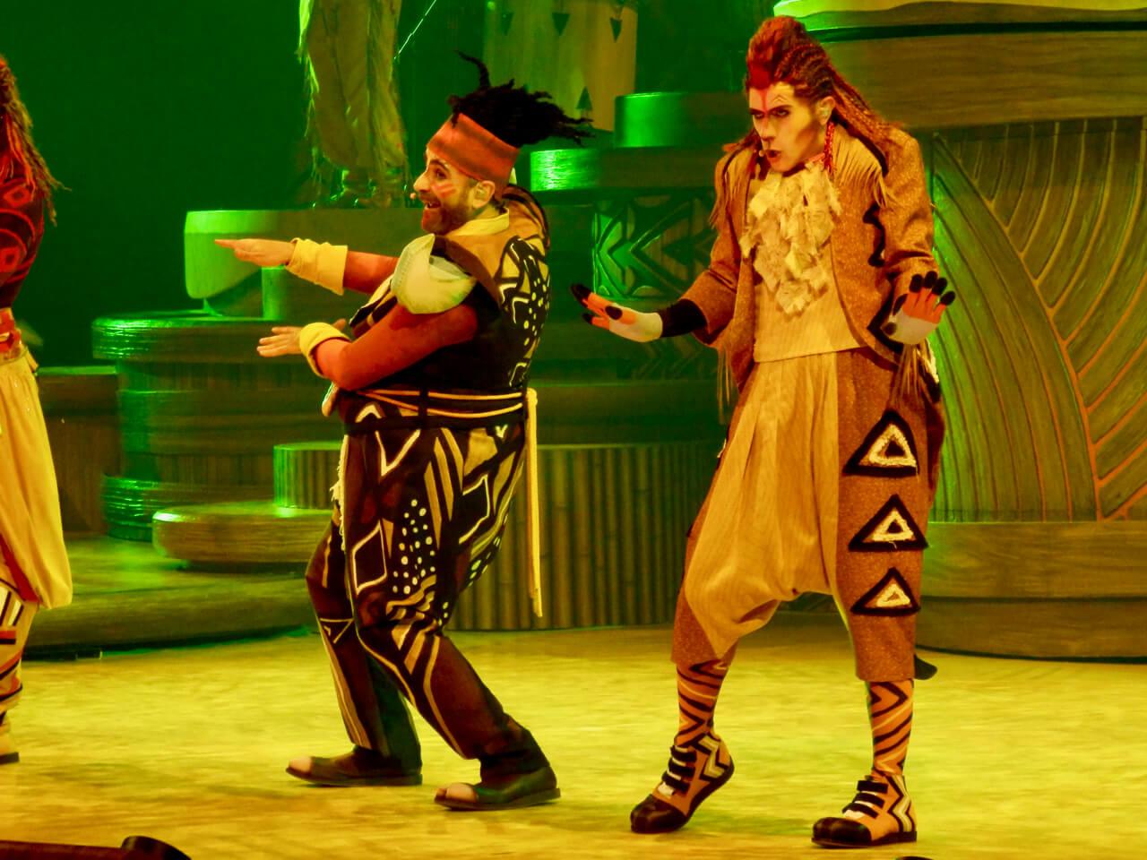 Timon y Pumba en El Rey Leon y los Ritmos de la Tierra en Disneyland Paris
