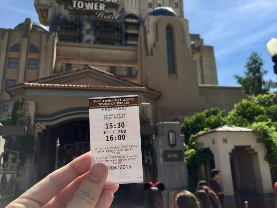 FASTPASS de la Tower of Terror en Walt Disney Studios de Disneyland Paris