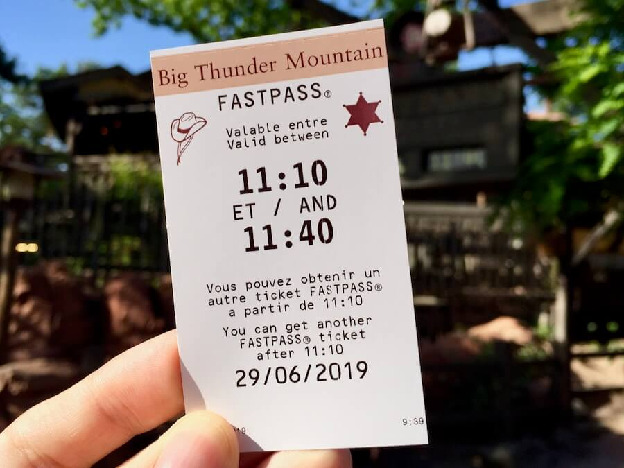 FASTPASS para Big Thunder Mountain de Disneyland Paris