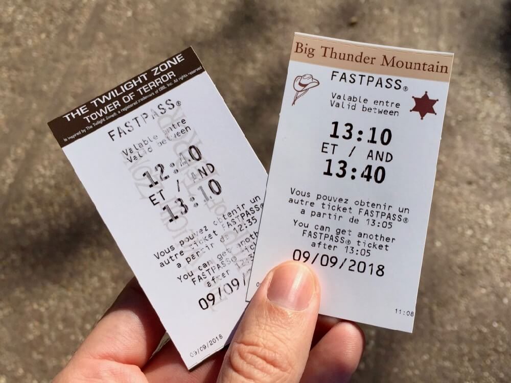 FASTPASS para Big Thunder Mountain y Tower of Terror en Disneyland Paris