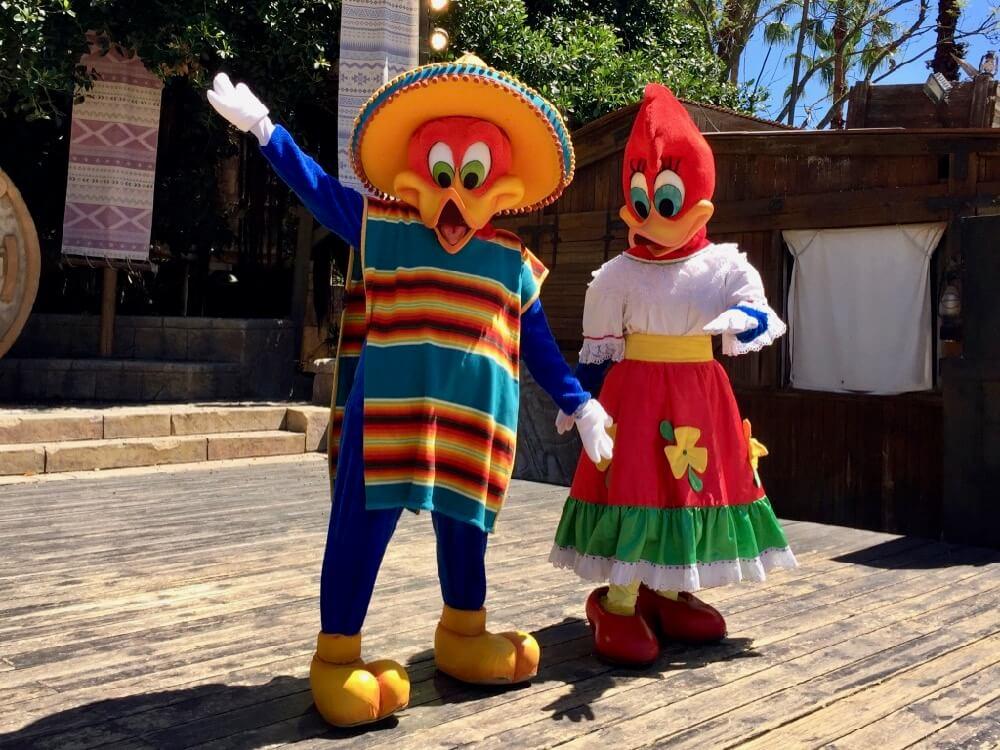Woody y Winnie en Mexico de PortAventura