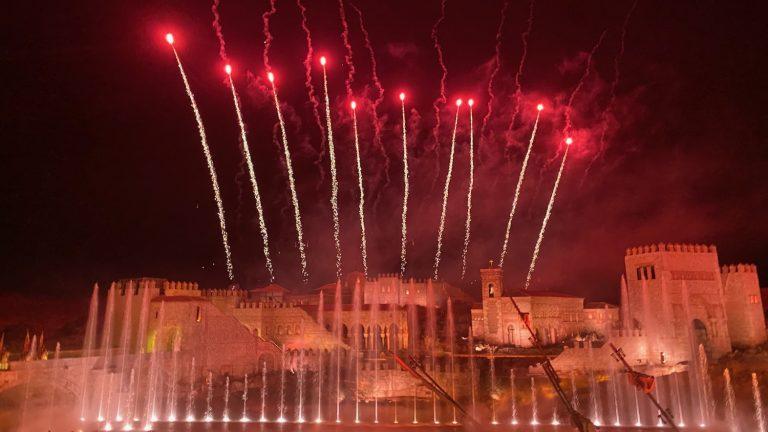 Fuegos artificiales en El Sueño de Toledo de Puy du Fou España