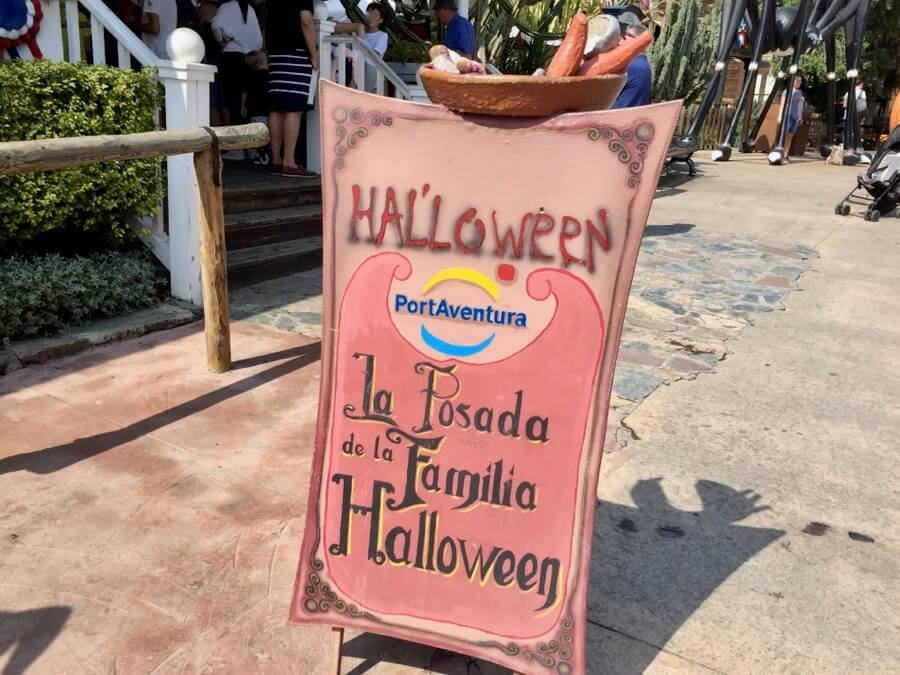Cartel la Posada de Halloween