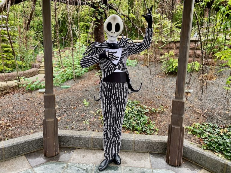 Jack Skellington en el Halloween 2020 de Disneyland Paris