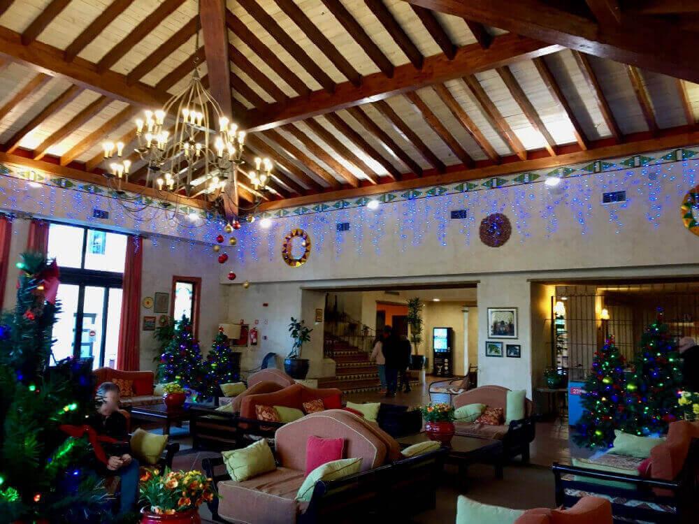 Navidad PortAventura - Recepcion hotel El Paso
