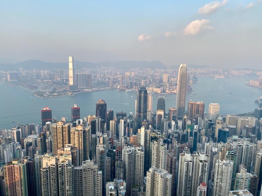 Panoramica de Hong Kong desde The Peak