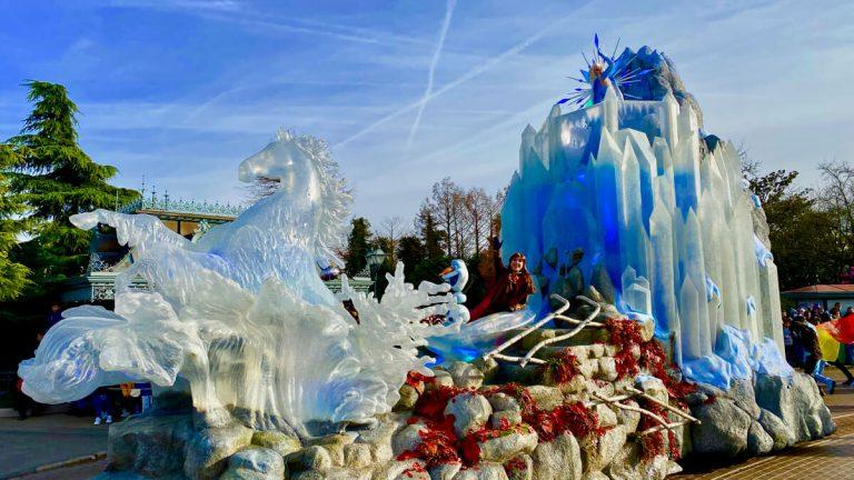 Carroza de Frozen Celebration en Disneyland Paris