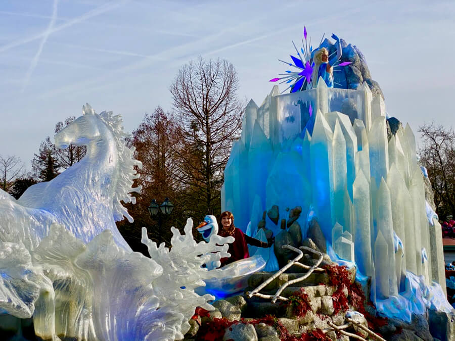 La carroza en Frozen 2 an Enchanted Celebration