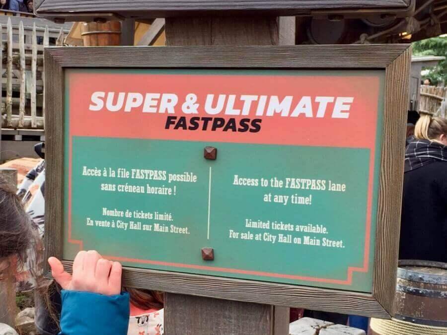 Anuncio de los FASTPASS de pago en Disneyland Paris