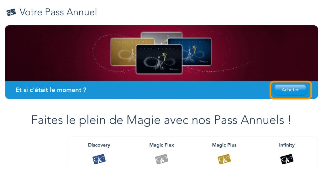 Comprar pase anual Disneyland Paris online paso 1