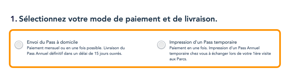 Comprar pase anual Disneyland Paris online paso 2