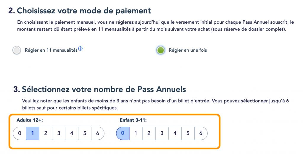 Comprar pase anual Disneyland Paris online paso 4