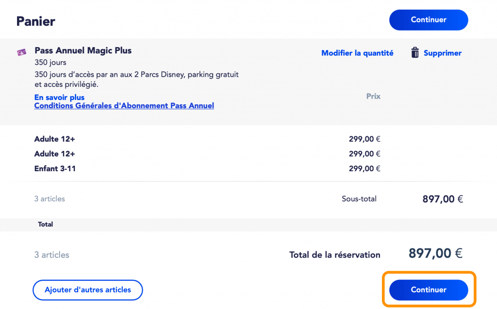 Comprar pase anual Disneyland Paris online paso 7