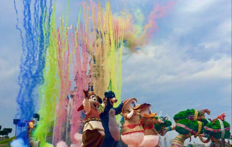 Final del espectaculo Jungle Book Jive en la Temporada del Rey Leon y la Selva de Disneyland Paris