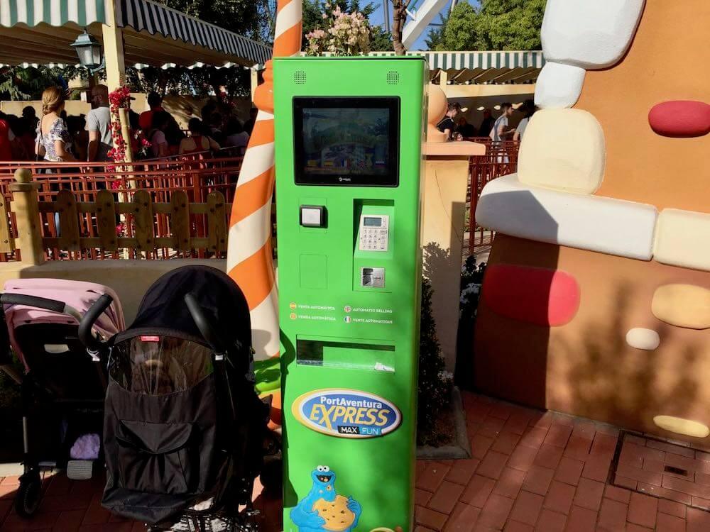 Maquina venta de PortAventura Express Max Fun en Street Mission