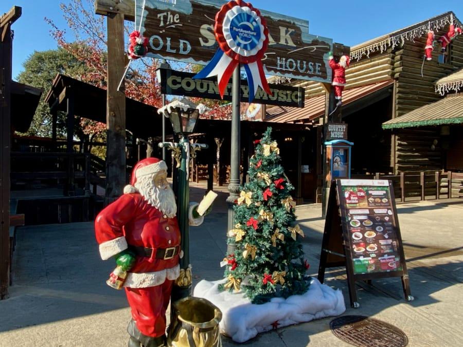 PortAventura Navidad - Decoración en Old Steak House