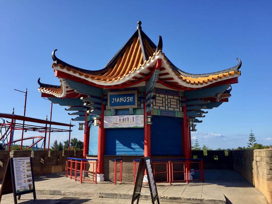 Puesto de comida rápida Jiangsu en China de PortAventura