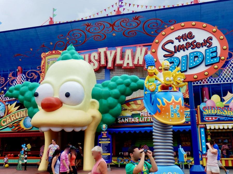 Atracción de los Simpsons en Universal Studios Florida