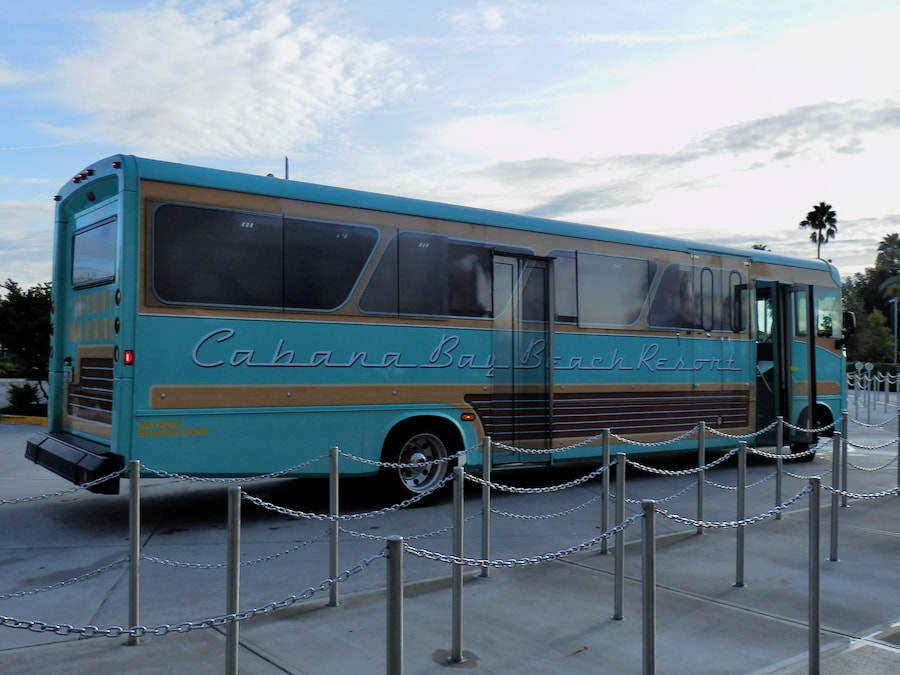 Bus del hotel Cabana Bay Beach Resort en Universal Orlando