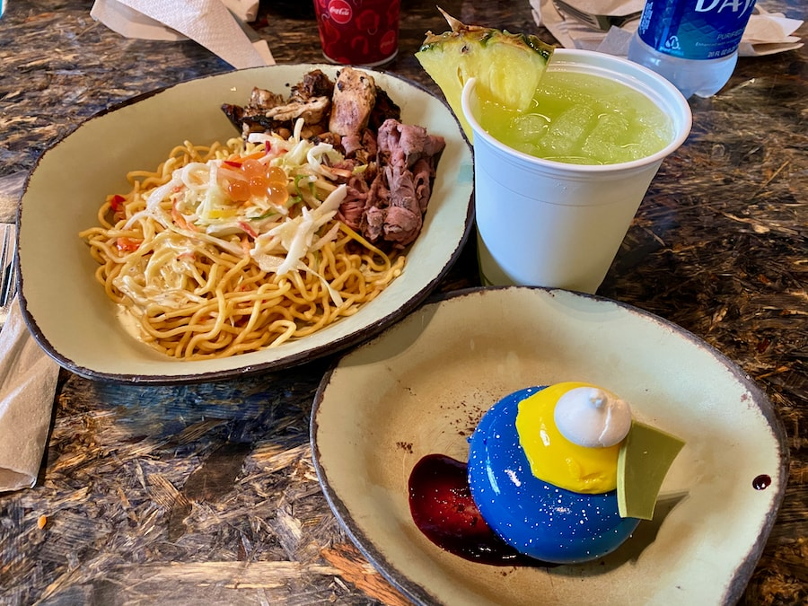 Comida del restaurante Satuli Canteen en Animal Kingdom