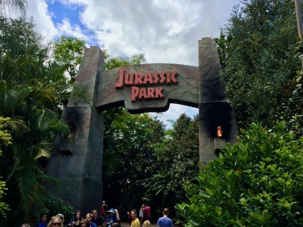 Entrada a Jurassic Park en Islands of Adventure de Universal Orlando
