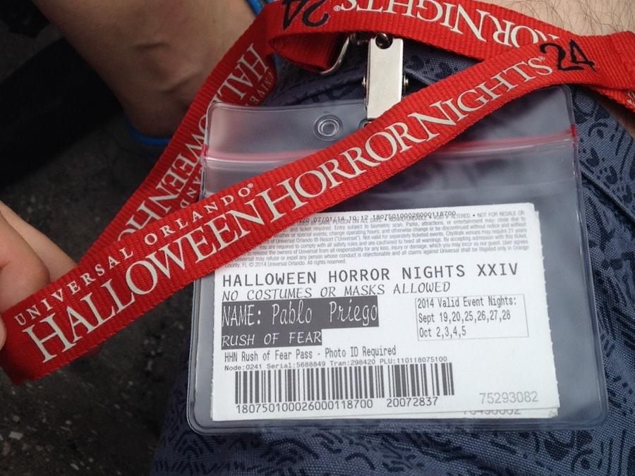 Entrada a las Halloween Horror Nights en Universal Studios Florida
