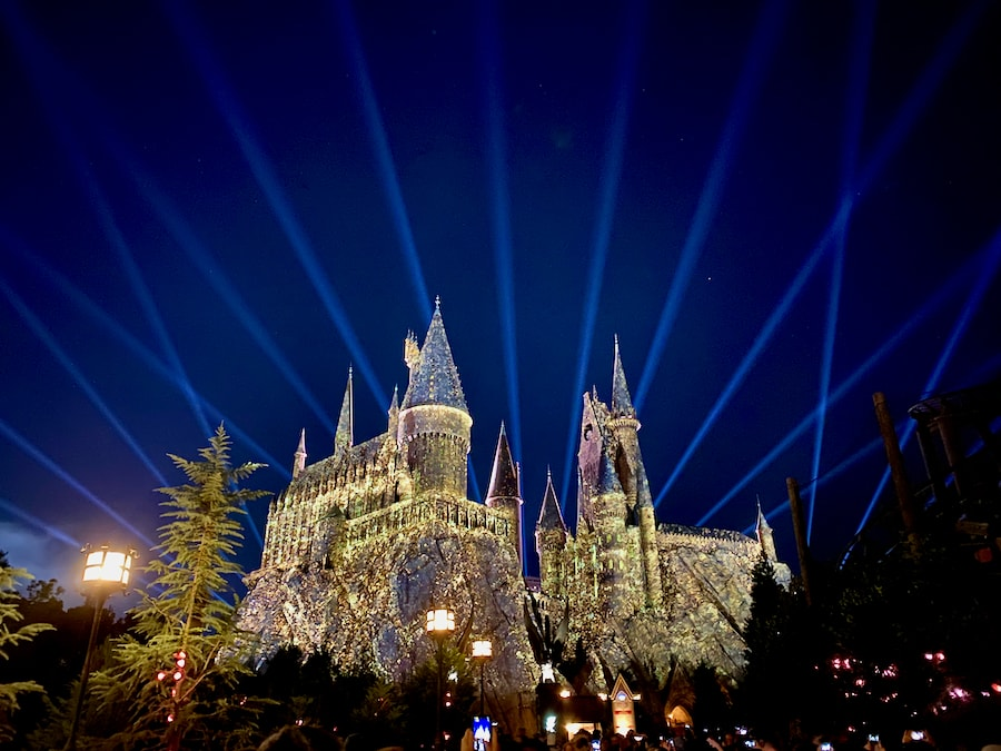 Espectaculo nocturno de Hogwarts en Islands of Adventure