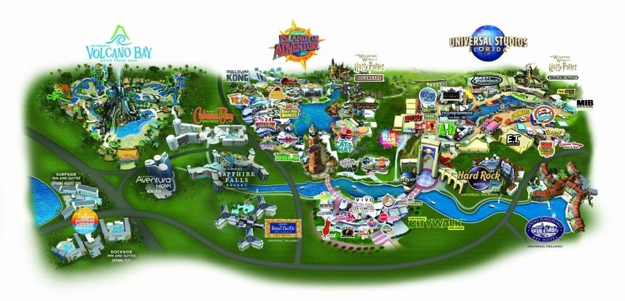 Mapa de Universal Orlando Resort