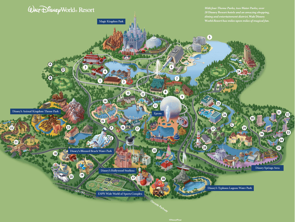 Mapa de Walt Disney World