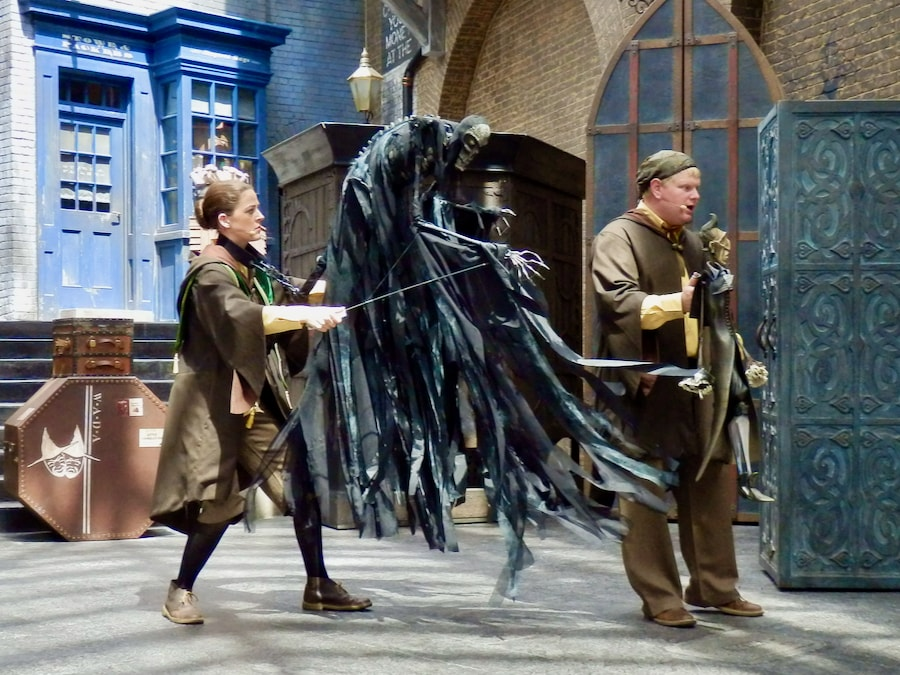 Representación de los Cuentos de Beedle el Bardo en el Callejón Diagon de Universal Studios Florida