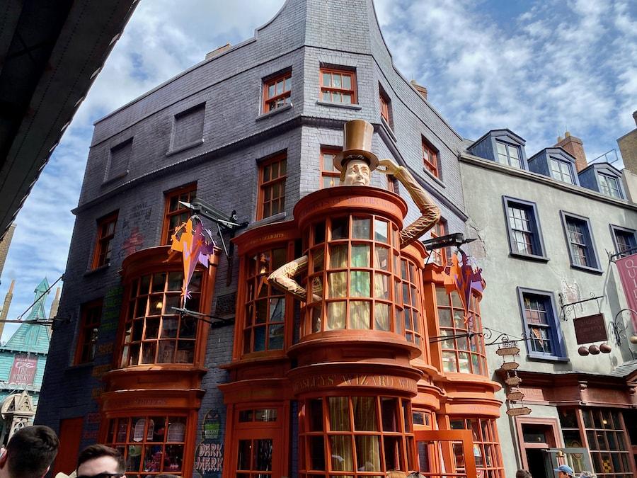 Tienda de los hermanos Weasley en Callejón Diagon de Universal Studios Florida