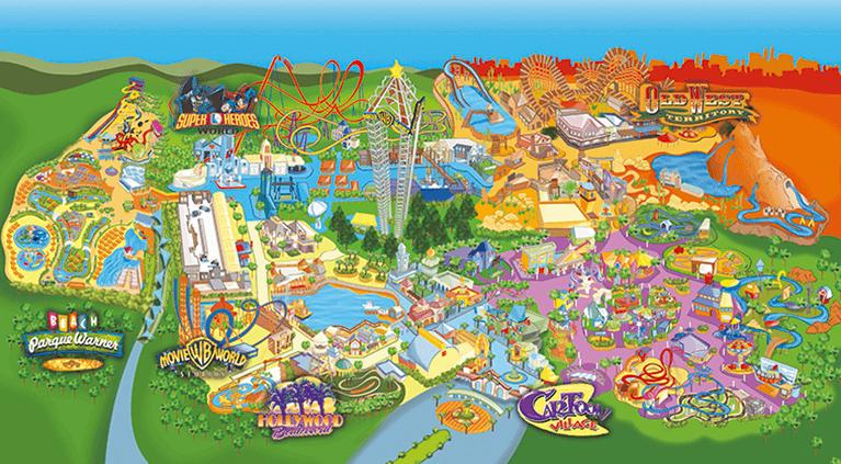 Mapa Parque Warner 2020