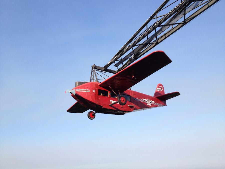 Avió atracción del parque de atracciones Tibidabo de Barcelona