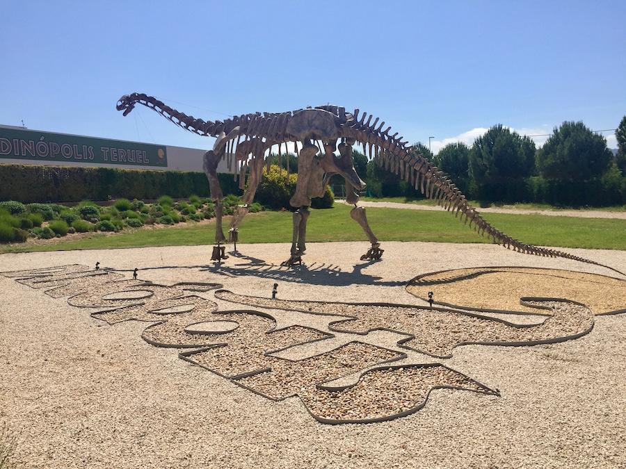 Esqueleto de Dinosaurio en Tierra Magna de Dinópolis Teruel