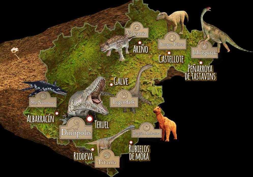 Mapa Dinópolis