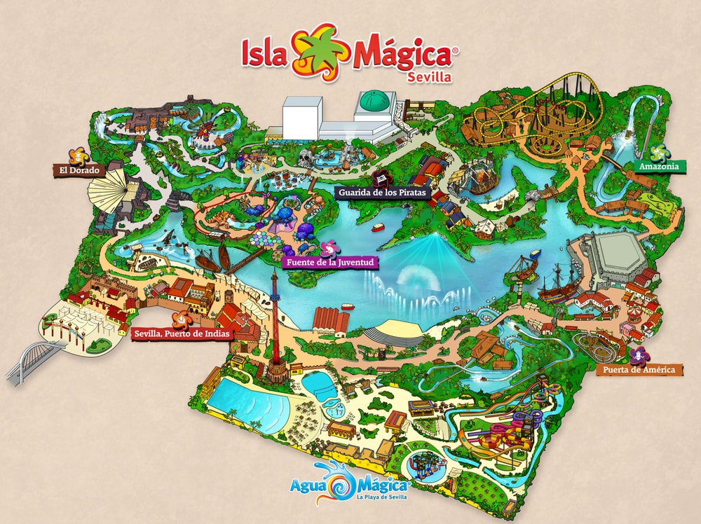 Mapa Isla Mágica y Agua Mágica
