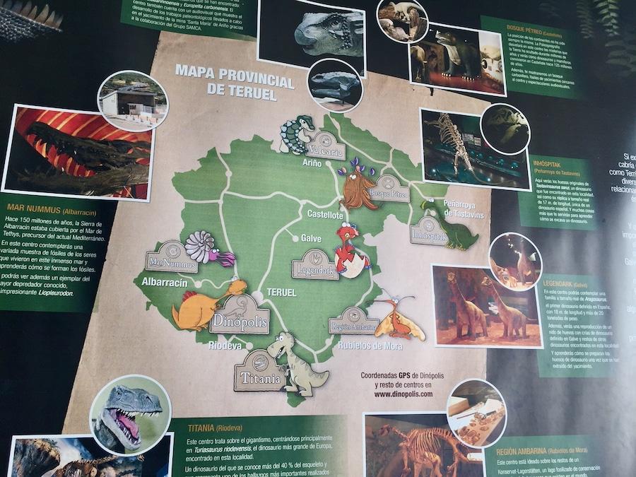 Mapa sedes Dinópolis Teruel