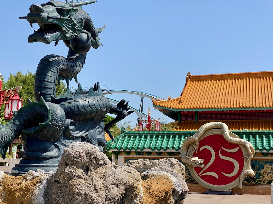 PortAventura decoración del 25 aniversario en China