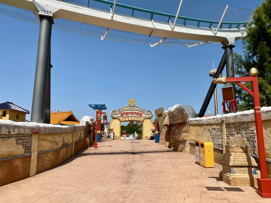 PortAventura zona de Shambhala vacía 2020
