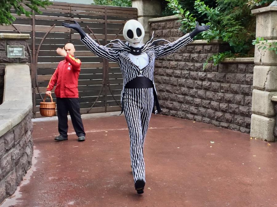 Jack Skellington de Pesadilla antes de Navidad en Disneyland Paris accesible con Lineberty