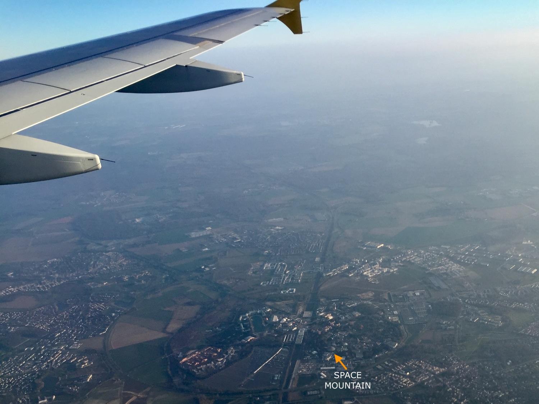 Vista de Disneyland Paris desde un avión