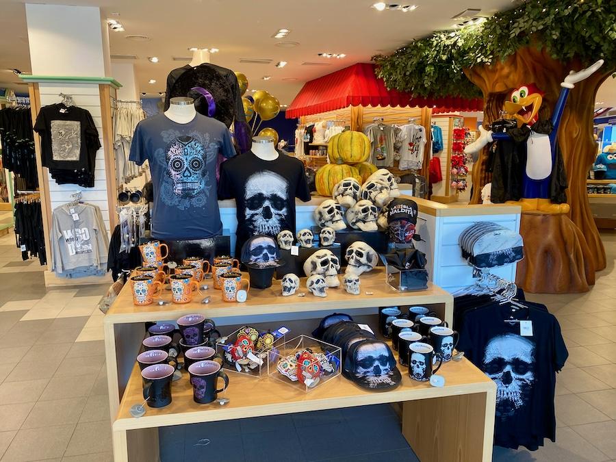 Productos de Halloween 2020 en la tienda Records de PortAventura