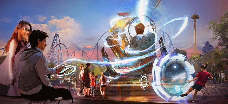 The Beat Challenge - Juego de LaLiga en las áreas de PortAventura - Escultura