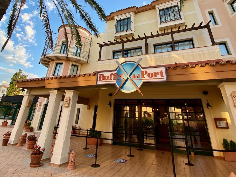 Entrada al restaurante Buffet del Port en el Hotel PortAventura de PortAventura World
