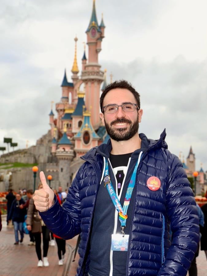 Foto con el Castillo de Disneyland Paris con PhotoPass
